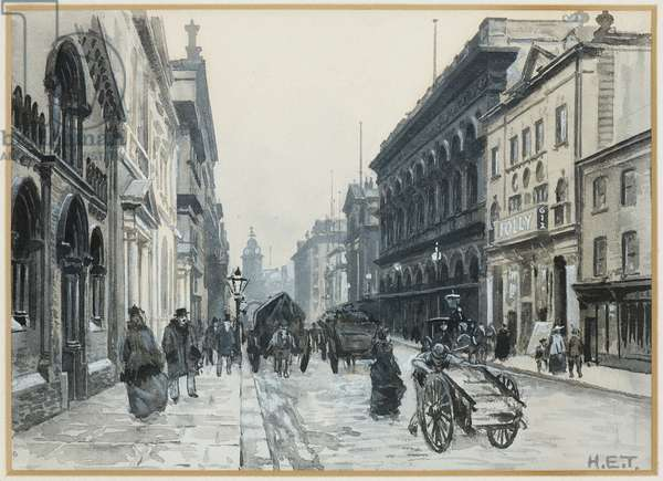 Peter Street, The Free Trade Hall, 1893-94 (w/c gouache on paper)