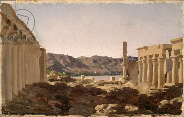 The Temple of Philae, 1868 (oil on canvas)