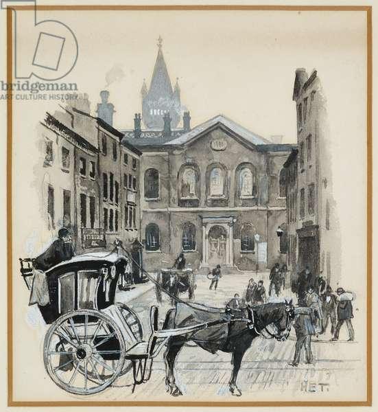 Congregational Chapel, Grosvenor Street, 1893-94 (w/c gouache on paper)