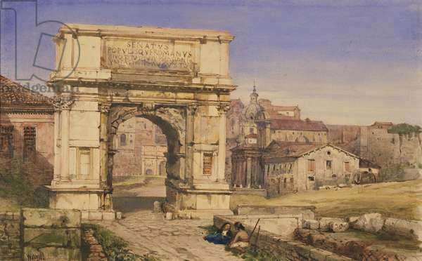 The Arch of Titus, Rome (w/c on paper)