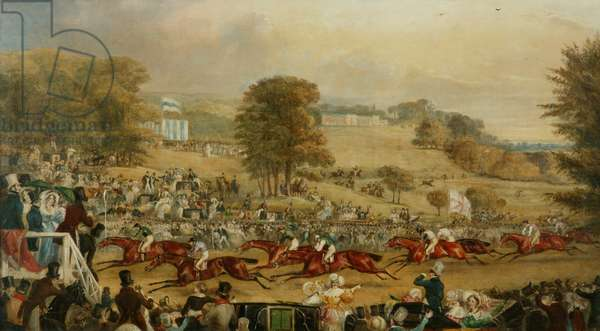 Heaton Park Races, Manchester (oil on canvas)