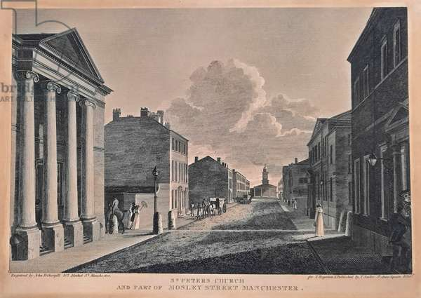 St. Peter's Church And Part Of Mosley Street, Manchester, 1824 (engraving)