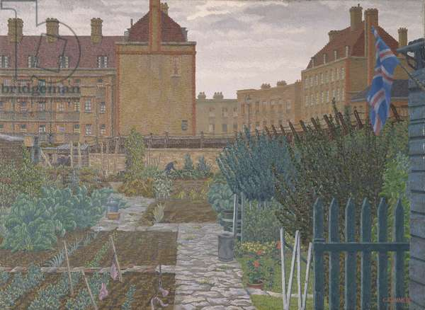 Bethnal Green Allotment, 1943 (oil on canvas)