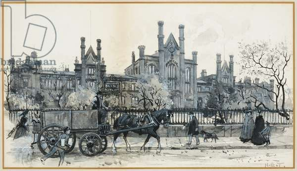Henshaw's Blind Asylum and Deaf and Dumb Schools. Old Trafford, 1893-94 (w/c gouache on paper)