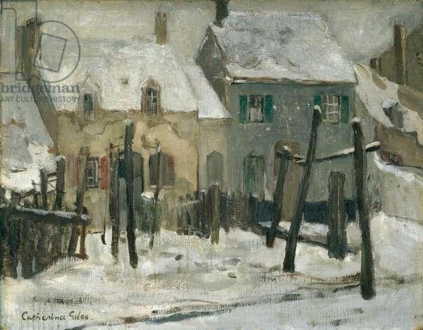 Snow Scene, Etaples (oil on canvas)
