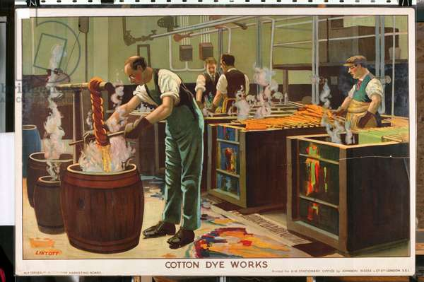 Cotton Dye Works, from the series 'Empire Trade is Growing' (colour litho)