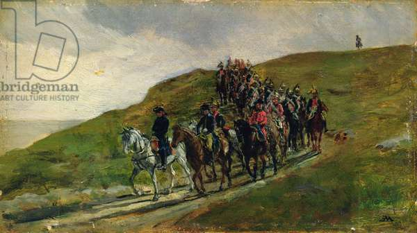 The Advance Guard of an Army (oil on panel)