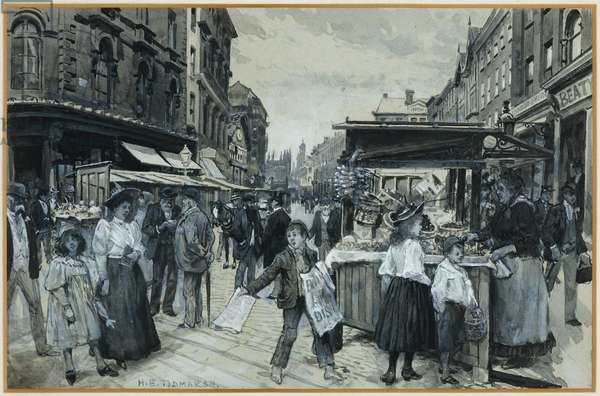 The Old Market Place, 1893-94 (w/c gouache on paper)