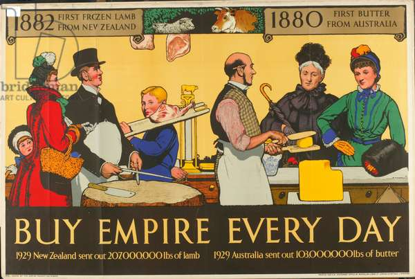 Buy Empire, from the series 'Milestones of Empire Trade' (colour litho)