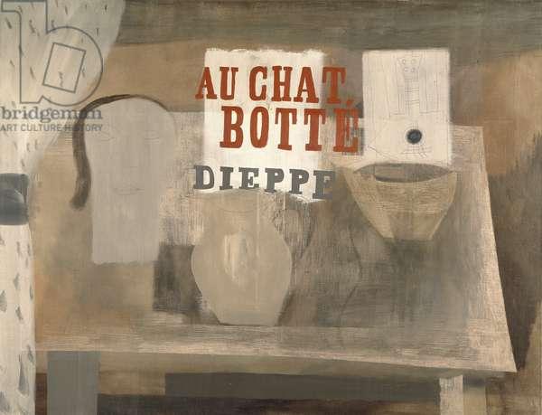 1932 (Au Chat Botté), 1932 (pencil & oil on canvas)