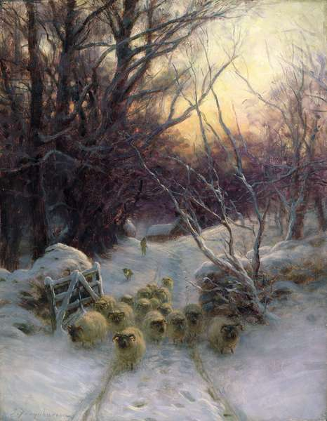 The Sun had closed the Winter Day, 1904 (oil on canvas)