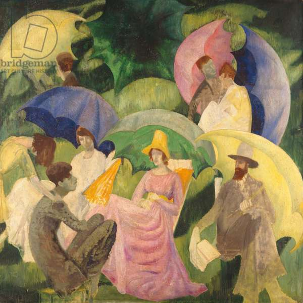 Umbrellas, 1917 (oil on canvas)
