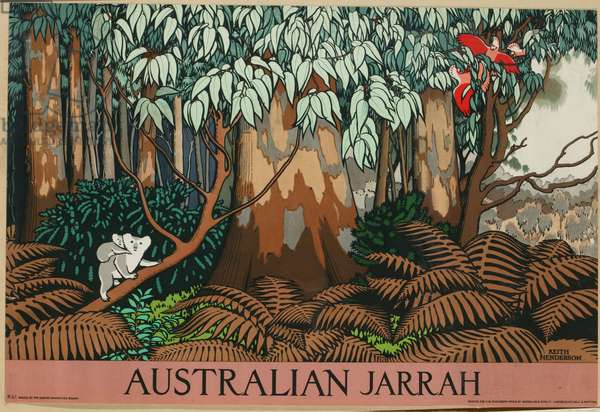 Australian Jarrah (colour litho)