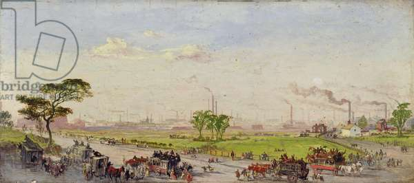 Manchester from Belle Vue, 1861 (oil on panel)