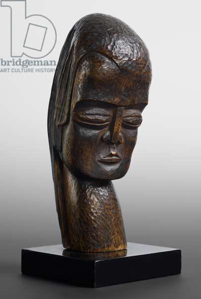 Head of a Girl, 1922 (wood)