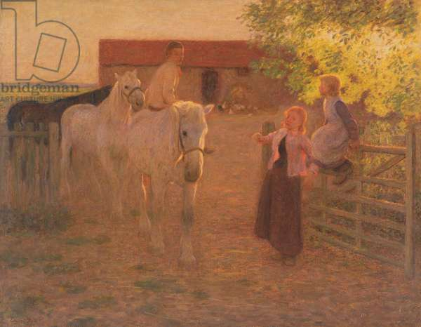 The Old Gate, c.1896 (oil on canvas)
