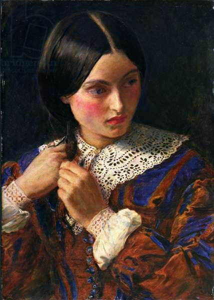 Only a Lock of Hair, c.1857-58 (oil on panel)