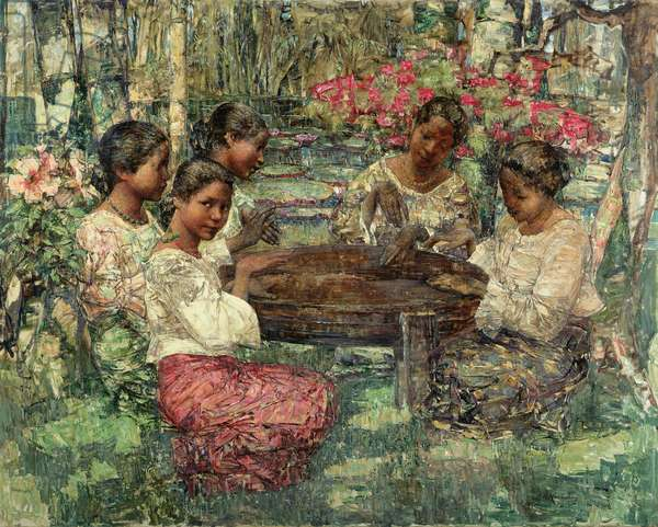Tom-Tom Players, Ceylon, 1908 (oil on canvas)