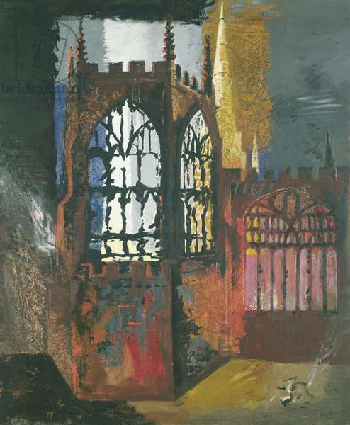 Coventry Cathedral, 1940 (oil on canvas)