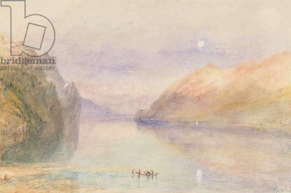 A Swiss Lake, c.1841 (w/c on paper)