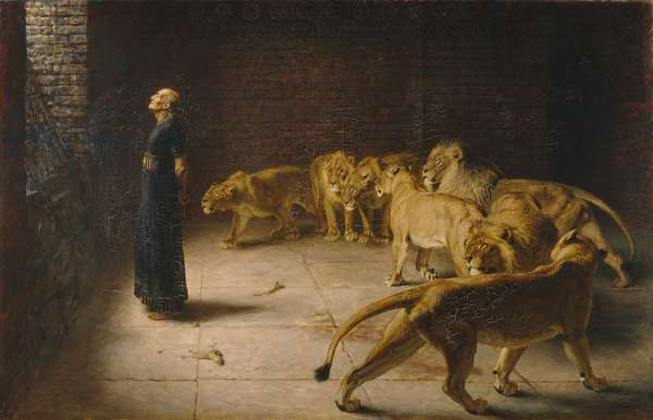 Daniel's Answer to the King, 1890 (oil on canvas)