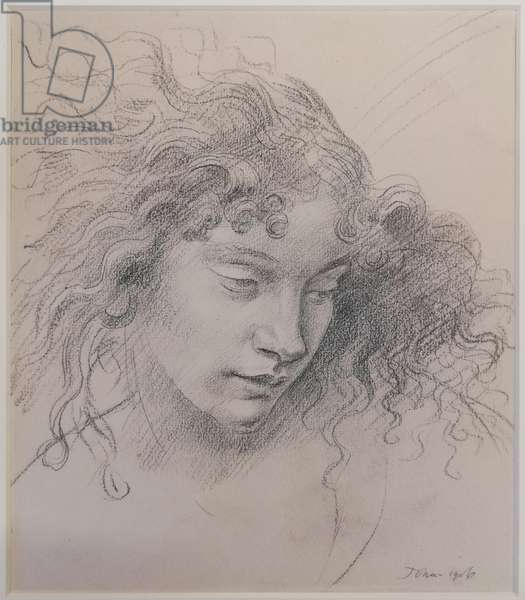 Study of an Undine, 1906 (pencil on paper)
