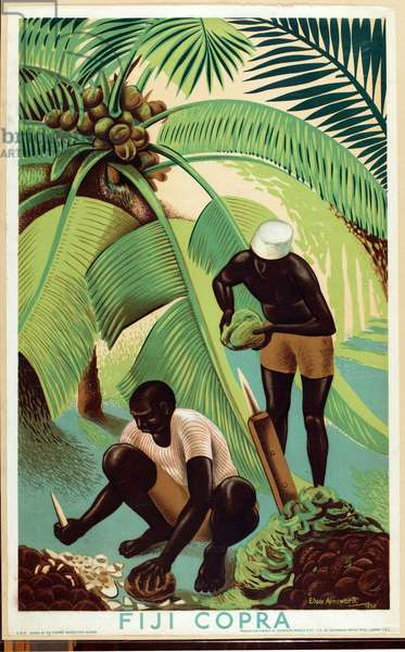 Fiji Copra, from the series 'Buy from the Empire's Gardens', 1930 (colour litho)