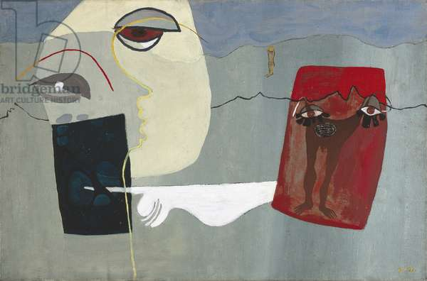 Woman and Suspended Man, 1939 (oil on canvas)