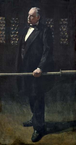 Charles Bradlaugh at the Bar at the House of Commons, c.1892-93 (oil on canvas)