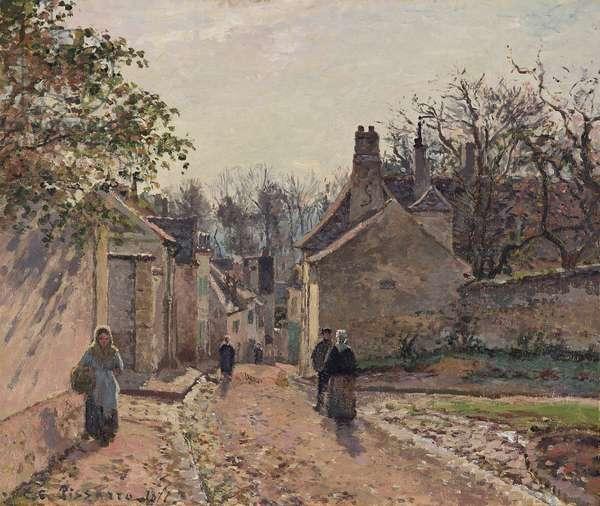 A Village Street, Louveciennes, 1871 (oil on canvas)