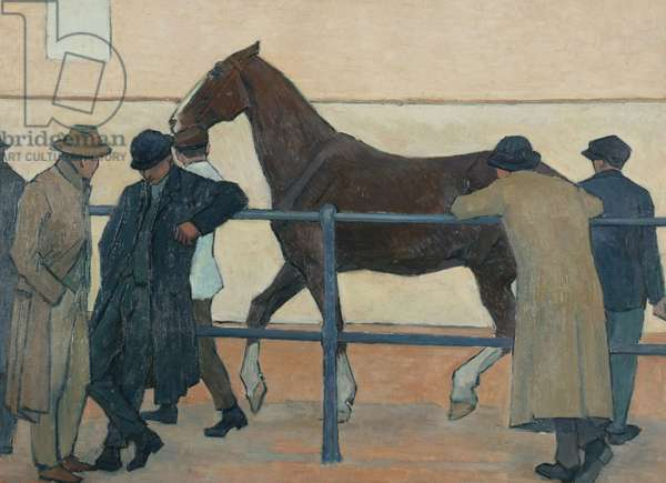 Horse Dealers, 1918 (oil on canvas)