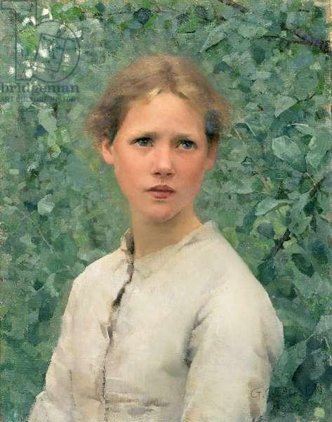 A Girl's Head, 1886 (oil on canvas)