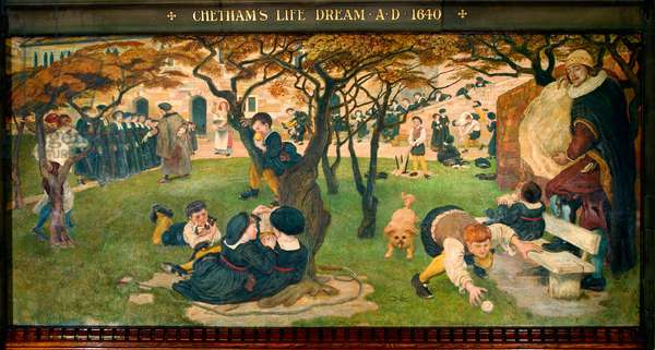 Chetham's Life Dream AD 1640, 1886 (pigment, varnish, gum & wax on panel)