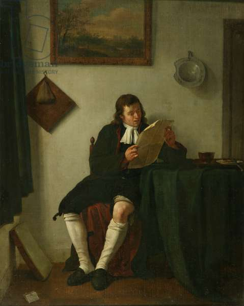 Interior with a Man Reading, 1784 or 1789 (oil on canvas)