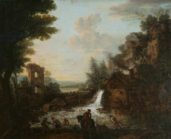 Landscape with Fishermen, 1753 (oil on canvas)