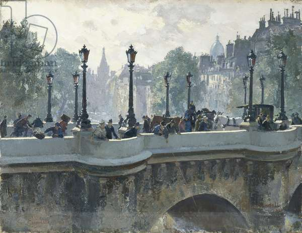 Pont Neuf, Paris, 1925 (oil on canvas)