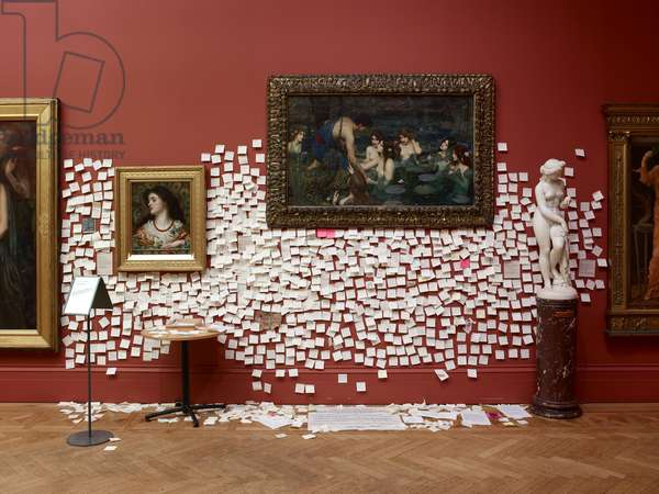 Visitor responses surrounding 'Hylas and the Nymphs' by John William Waterhouse, following a performance piece by Sonia Boyce, during which the painting was removed from display, February 2018 (photo) (see also 62987)