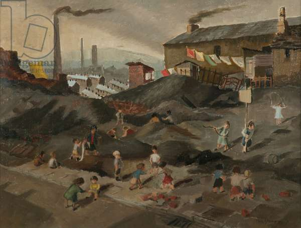 Waste Land, Tredegar, South Wales, 1951 (oil on plywood)