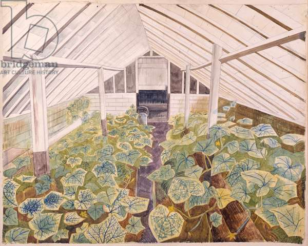 The Greenhouse, 1932 (w/c on paper)