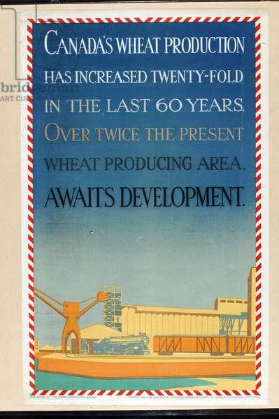 Canada's Wheat Production (colour litho)