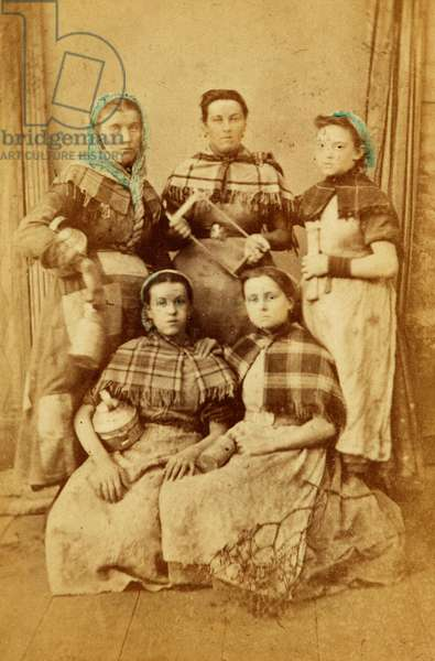 Workers from the Tredegar Iron Works, Wales, 1865 (albumen print)
