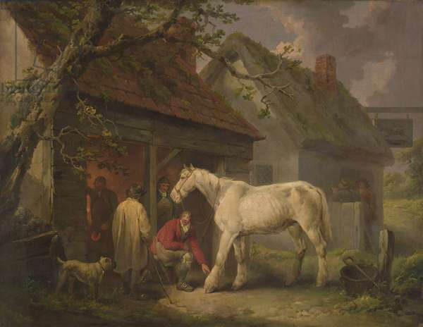 A Farrier's Shop (or The Farrier's Forge) 1793 (oil on canvas)