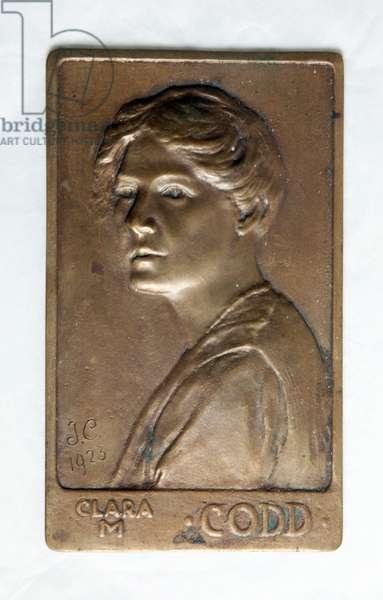 Clara M. Codd, 1923 (cast plaque)