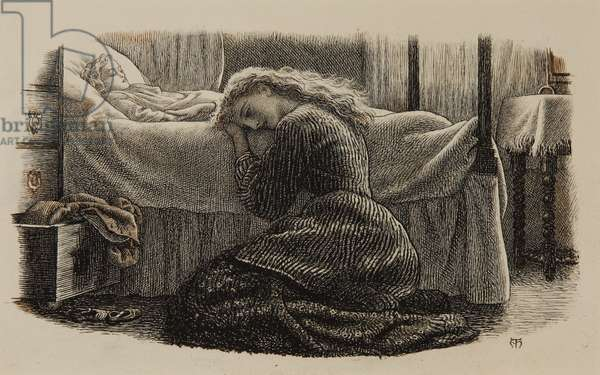 The Youngest Child's Death, c.1865 (ink on paper)