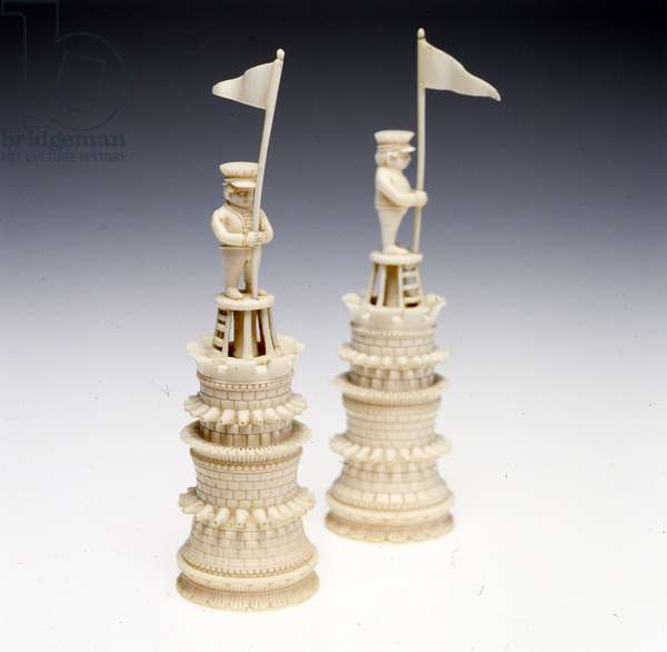 Chess set, c.1795 (ivory & walnut)