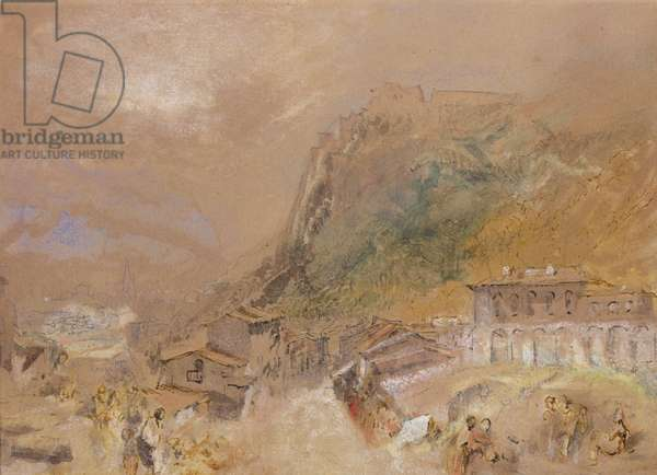 The Bastille at Grenoble, from the Village of La Tronche, c.1836 (w/c on paper)