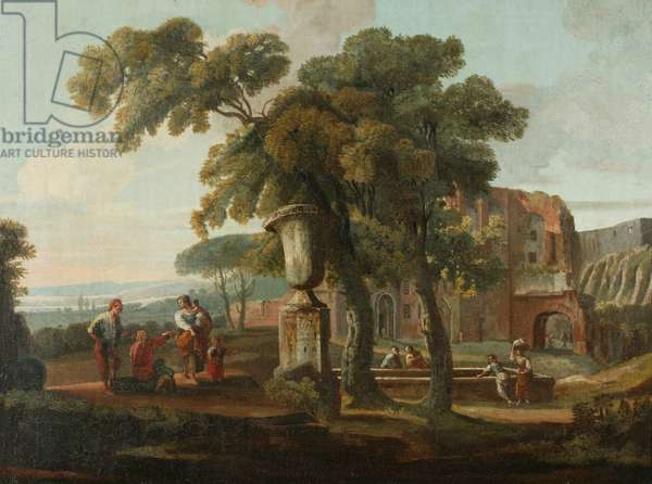Classical landscape with urn, c.1700 (oil on canvas)
