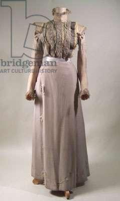Dress, 1897-99 (wool & silk poplin)