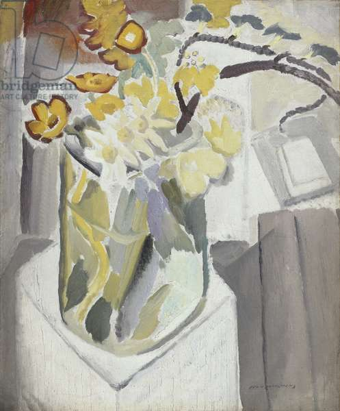 Flowers in a Vase, 1934-36 (oil on strawboard)