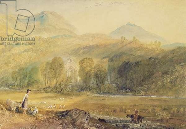 Valle Crucis Abbey, Denbighshire, c.1826 (w/c on paper)